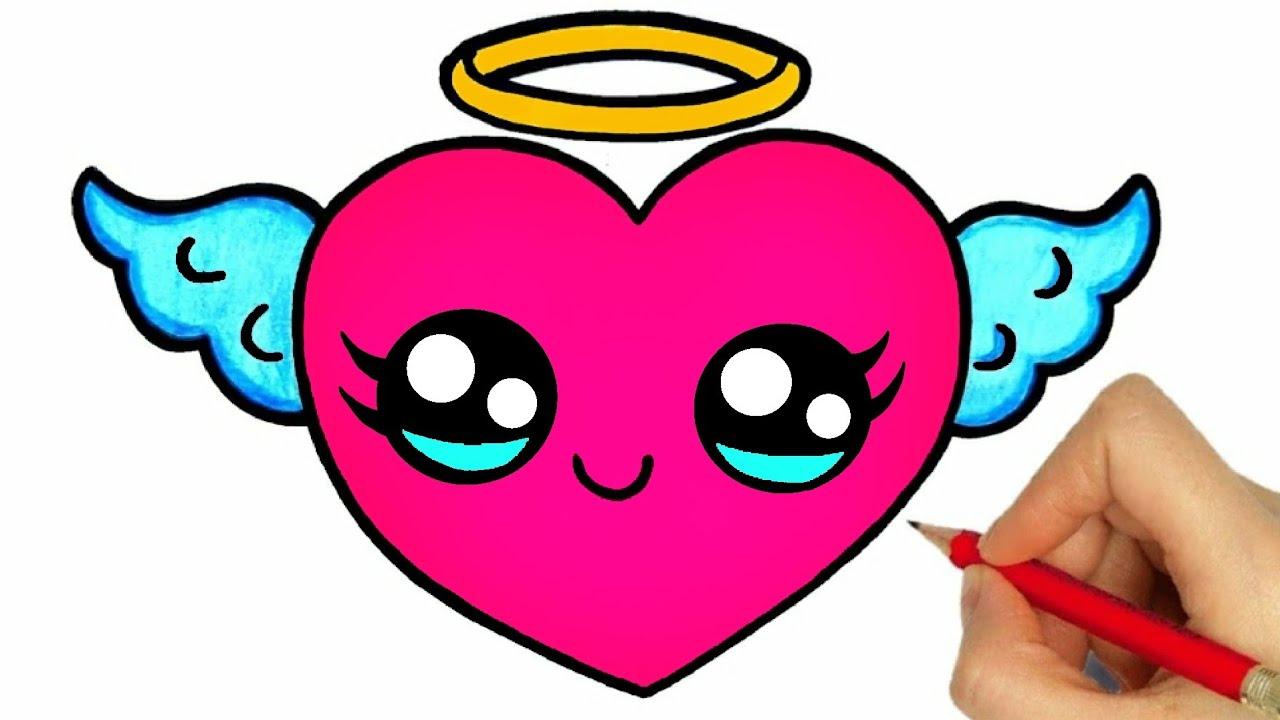 Comment Dessiner Un Coeur Dessins Kawaii Dessiner Un Coeur Facilement Youtube