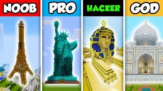 NOOB vs PRO vs HACKER vs GOD : FAMILY WORLD TRAVEL  in Minecraft! (Animation)