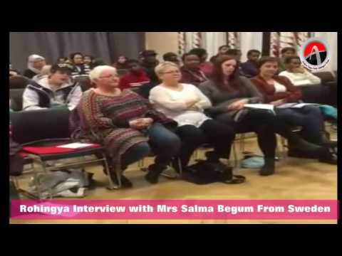 #Rohingya Interview with Mrs Salma Begum From Sweden