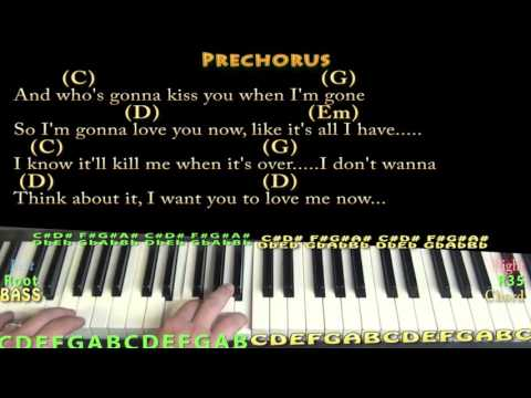 Love Me Now (John Legend) Piano Cover Lesson In G With Chords/Lyrics