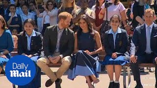 Prince Harry and Meghan Markle visit a Sydney high school