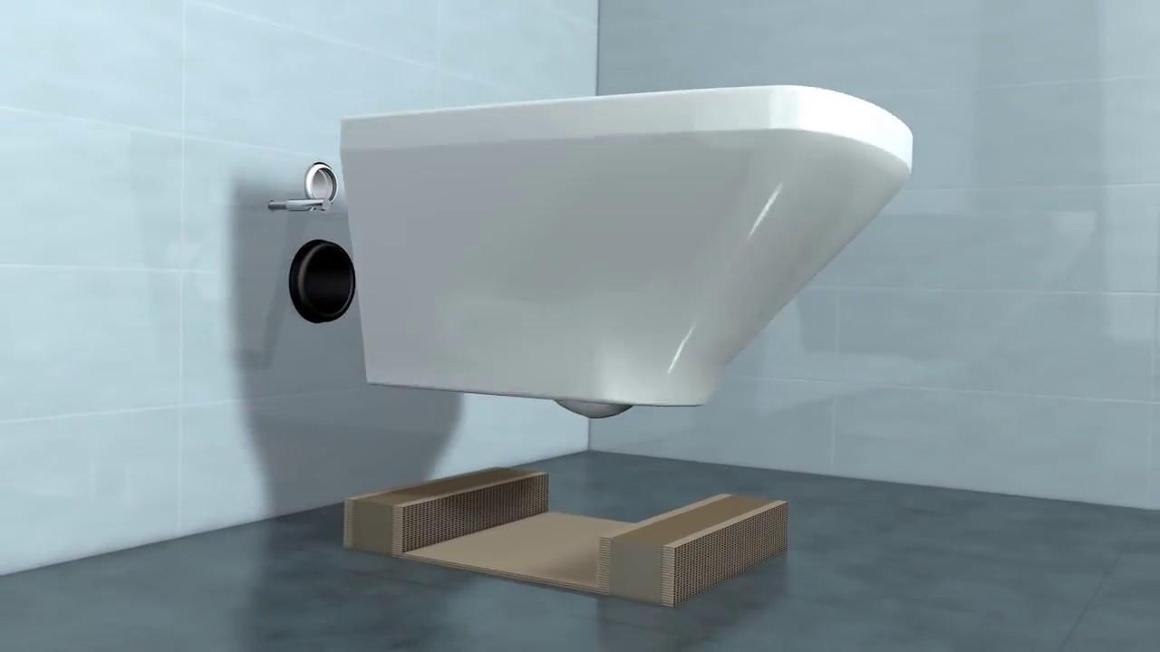 duravit wand wc befestigung durafix youtube. Black Bedroom Furniture Sets. Home Design Ideas