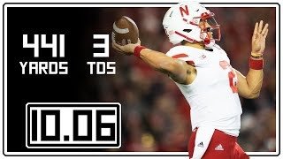Adrian Martinez Full Highlights Nebraska vs Wisconsin || 10.06.18 || 441 Total Yards, 3 TDs