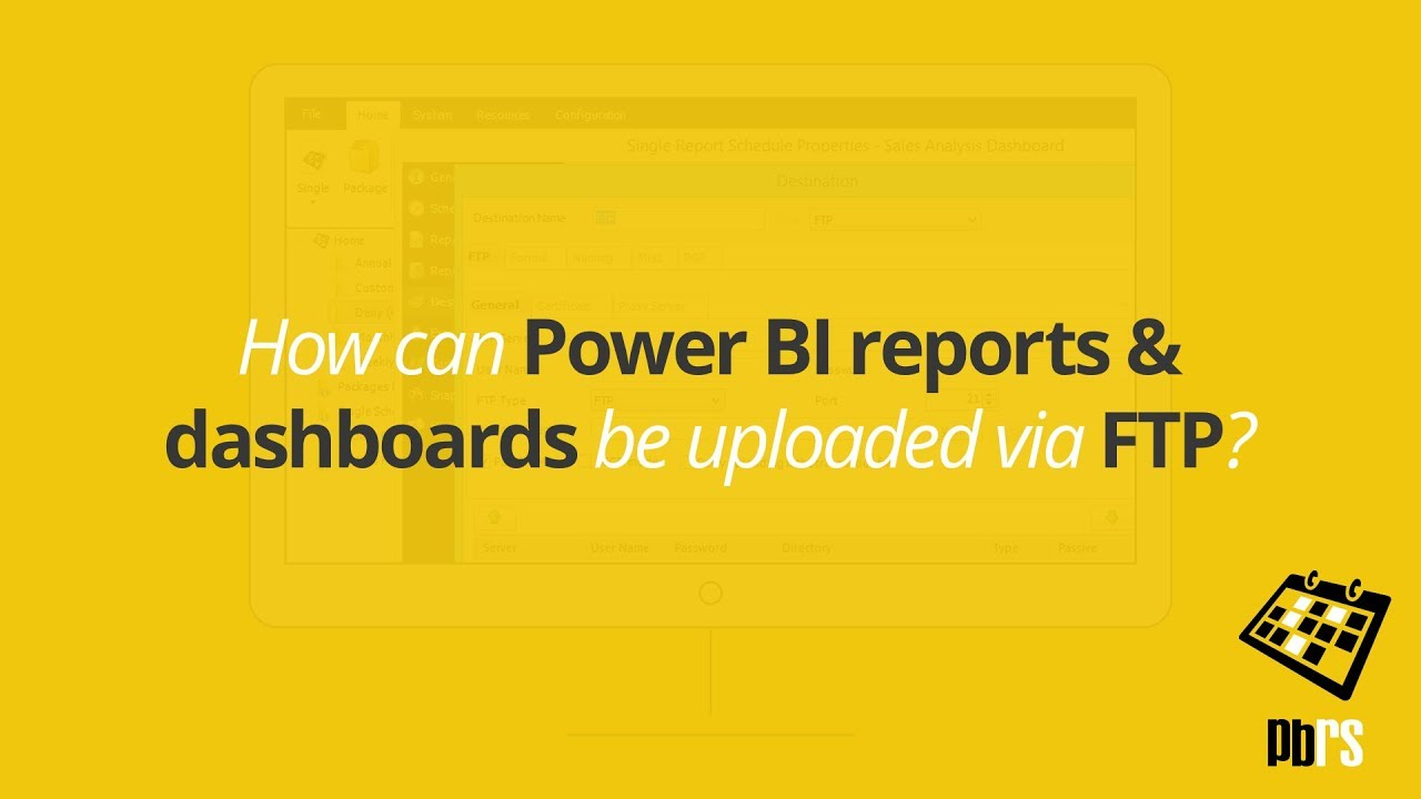 Upload Power BI Reports and Dashboards via FTP💥😎