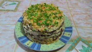 Печёночный торт. Liver cake.