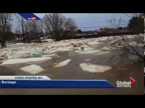 Major flood damage in Quebec