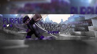 "MINECRAFT ""PURPLE WARRIOR""  BANNER TEMPLATE 