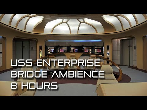 Star Trek: TNG Bridge Background Ambience **8 HOURS** (Wear headphones!)