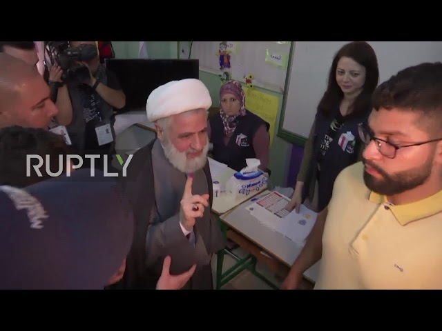 Lebanon: Hezbollah Deputy Sec-Gen. Qassem casts vote in first election since 2009