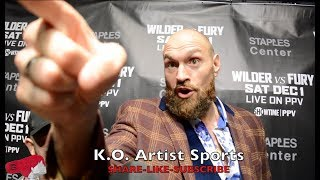 WOW! FURY SNAPS AT U.S. REPORTER! HEATED ON WILDER, BILLY JOE & MORE!!