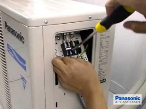 Installation Air conditoner Split Guide\u0027s - 06 Panasonic - YouTube