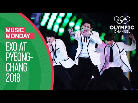 EXO at the Winter Olympics -  FULL Performance - PyeongChang