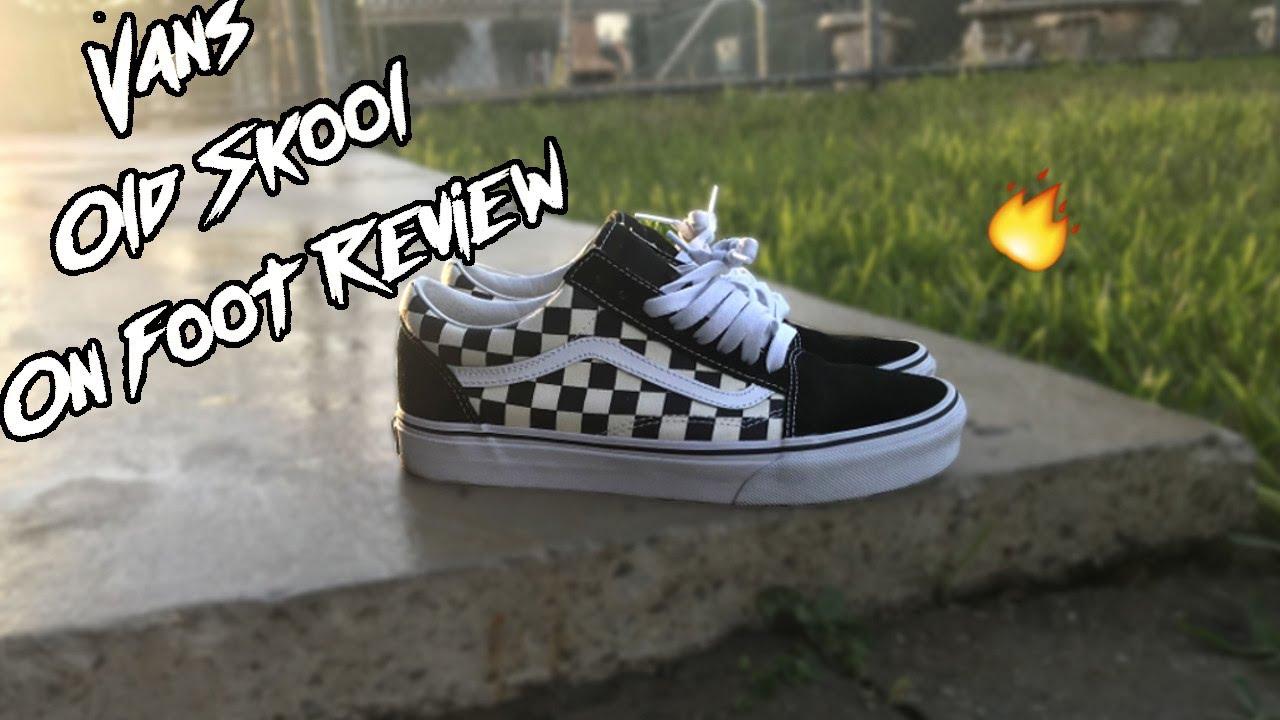 Vans Old Skool Checkerboard On Foot Review YouTube