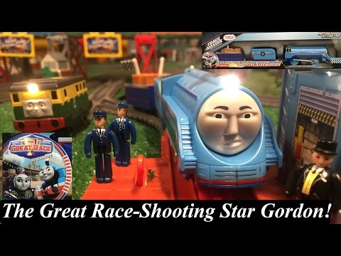 Thomas & Friends The Great Race Toy Train-Trackmaster  Shooting Star Gordon!