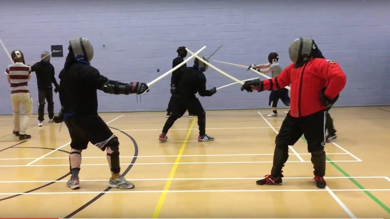 Black Fencer V5 sabre in action - Josh vs Nick - YouTube