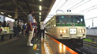 185系 快速鎌倉あじさい号 鎌倉駅入線 6/19