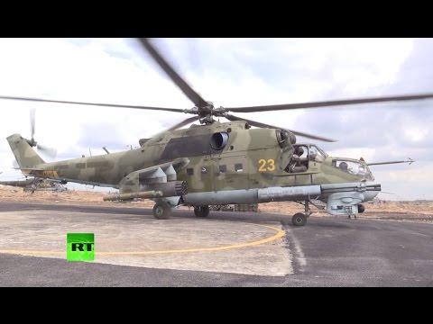 Вертолеты Ми-24 несут