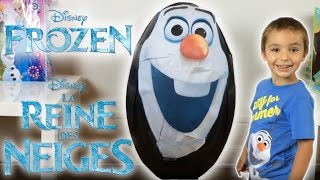 OEUF GEANT REINE DES NEIGES OLAF - Unboxing SUPER GIANT Surprise Egg FROZEN - Disney Frozen Videos streaming