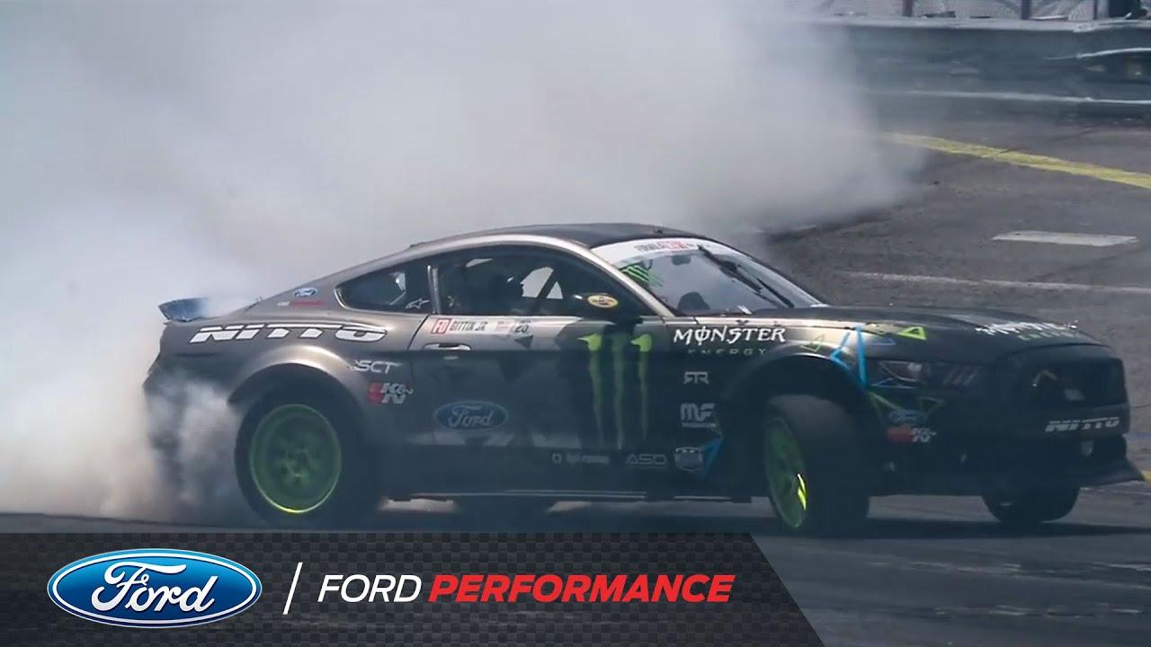 Vaughn Gittin Jr Explains His Steering Angle Formula Drift Ford Performance