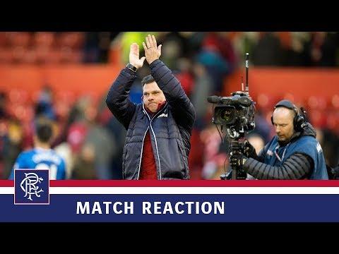 REACTION   Graeme Murty   Aberdeen 1-2 Rangers