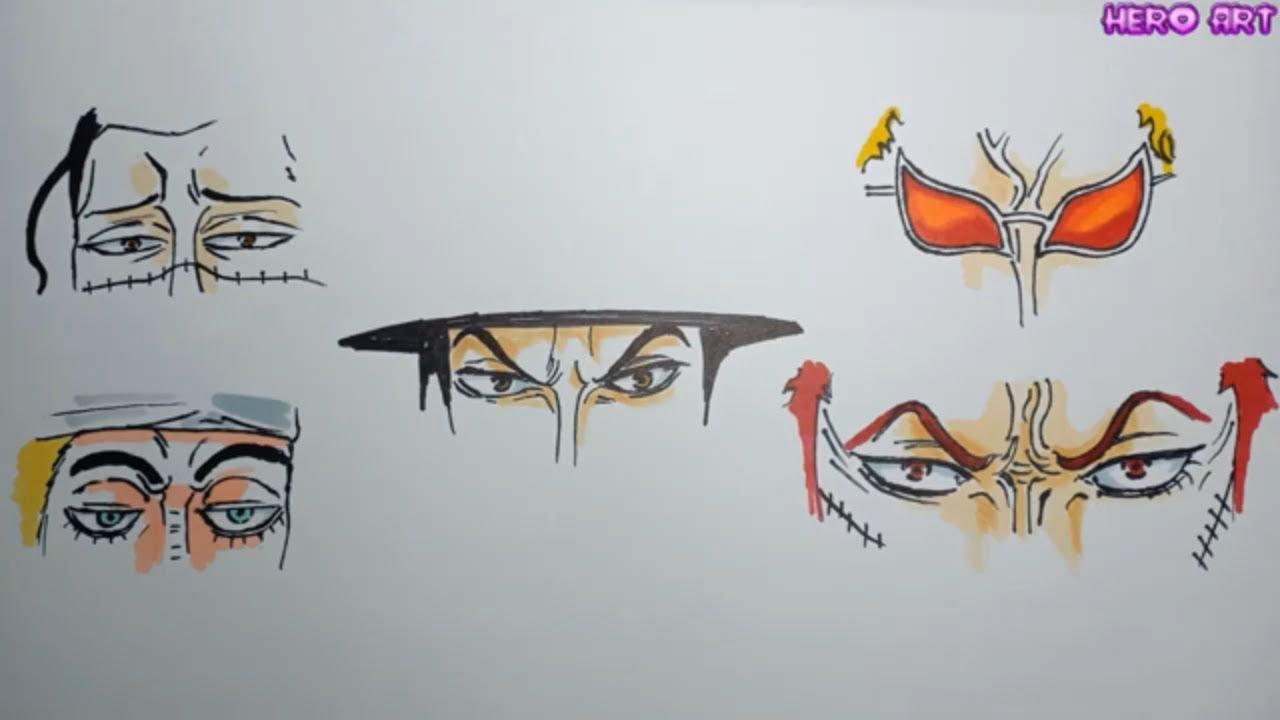 Vẽ Mắt Đoán Tên Nhân Vật One Piece  Cách Vẽ Mắt Đẹp