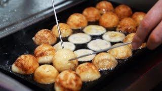 Chinese Street Food - Takoyaki 章魚燒 Japanese Octopus Balls China