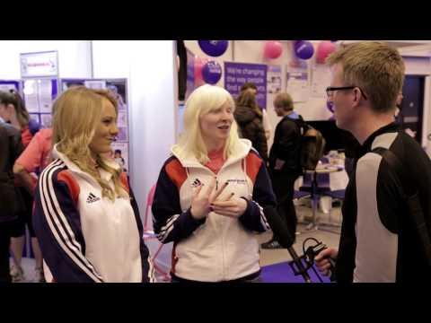 Kelly Gallagher & Charlotte Evans  (British Disabled Ski Team) - London Ski and Snowboard Show 2012