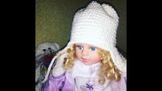 Самая легкая детская шапочка с ушками крючком. Узор