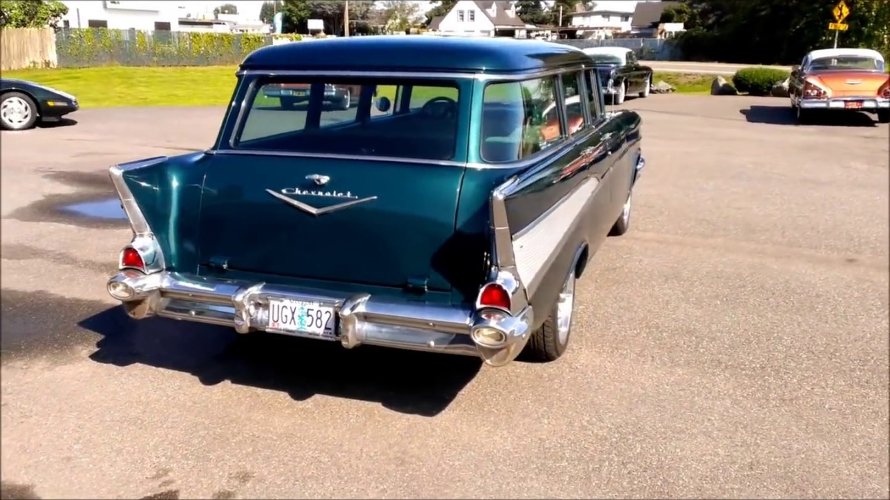 1957 Chevrolet 4 door wagon - YouTube