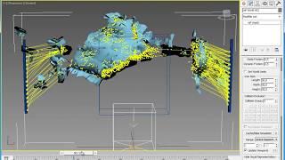 Эффекты 3d Max. Система частиц Particle Flow. Урок №59. Разрывание 3d модели. (Рафаэль Кусаматов)