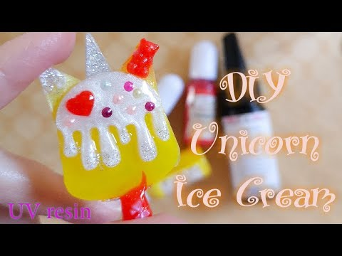 DIY Unicorn Ice Cream UV Resin | The Elves Box February 2019 | Sophie and Toffee