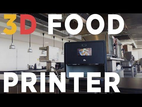 Foodini è una stampante 3d per cibi. Questo fantastico accessorio 'stampa' cibi usando un impasto scelto e creato da te. Hai infinite possibilità ora!