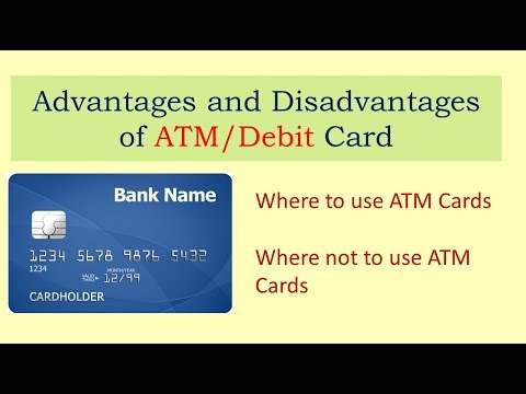 Advantages And Disadvantages Of ATM Card