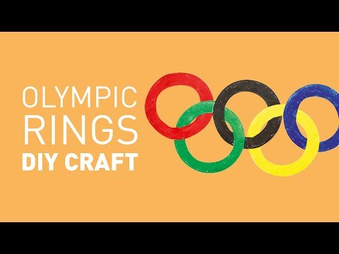 Paper Plate Olympic Rings DIY Craft   Educational Experience