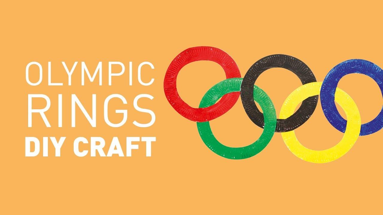 Paper Plate Olympic Rings Diy Craft Educational