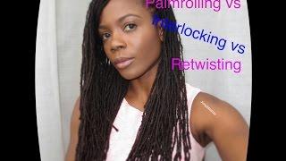 Loc Styling 101 Series: Palmrolling vs Interlocking vs retwisting/Jungle Barbie