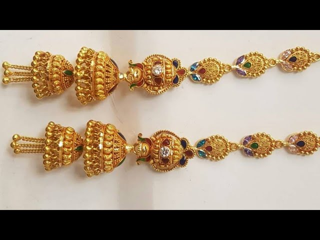 New Jhumka Design | Jhumkiya Design | Gold Jhumki Design | Earrings Design | Rajputi Wedding Jhumka