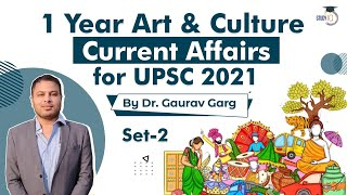 Art \u0026 Culture for UPSC 2021 Prelims current affairs of last 1 year Set 2 by Dr Gaurav Garg #UPSC2021