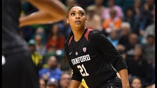 Dijonai carrington led stanford in scoring with 22 points while also adding nine boards as no. 2 seed toppled 1 oregon on sunday during the 2019...