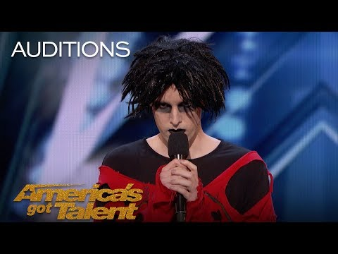 Oliver Graves: Gothic Comedian Slays Hilarious Set, Gets Emotional - Americas Got Talent 2018