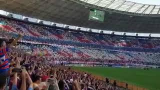 Mosaico da torcida do Fortaleza com bandeirinhas, Fortaleza 1 x 0 Sampaio Corrêa- 02/06/2018.