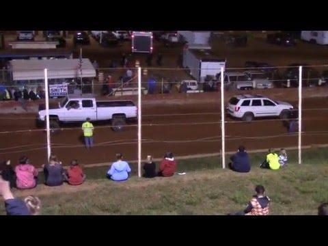 Winder Barrow Speedway Truck Pull 4/16/16