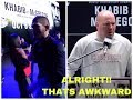 UFC 229: Khabib Nurmagomedov walks out from the Press Conference || Dana's Reaction