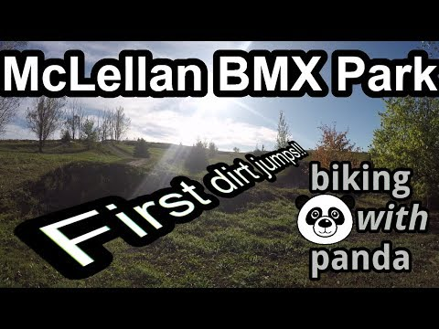 #21 -  My first dirt jumps ever! | McLellan BMX Park | Biking With Panda
