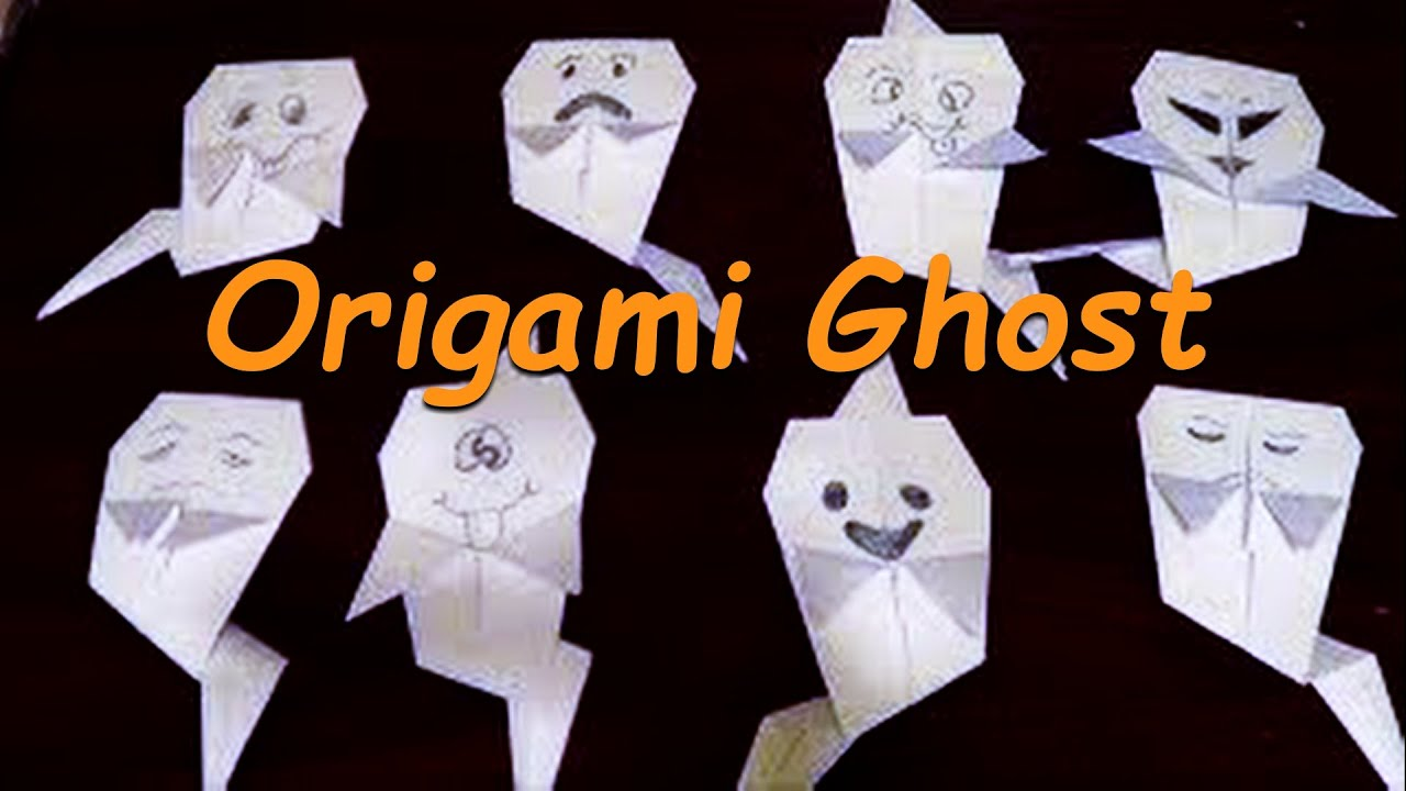 origami ghost tutorial how to make halloween ghost youtube