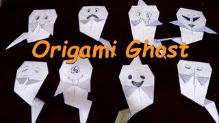 Origami Ghost Tutorial - How to make Halloween Ghost