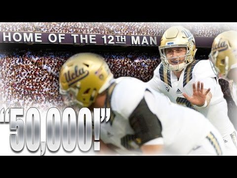 "Josh Rosen vs The 12th Man (""50,000!"" Chant)"