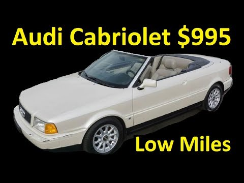 1 Owner Audi Cabriolet A6 80 Classic Convertible ~ $995 For Sale CHEAP