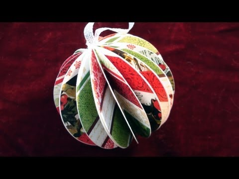 How To make a Paper Ball Christmas OrnamentYouTube