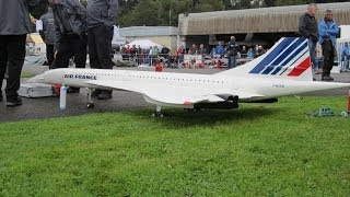 Peter Michel RC Concorde Air France Model Turbine Jet Hausen 2013